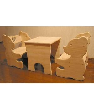 Лавочка и столик Мишка