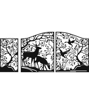 Ворота и калитка Лес (2)