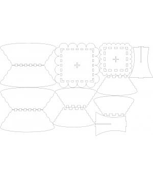Чаша квадратная (2)