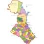 Векторный клипарт «Дагестан (карта) (2)»