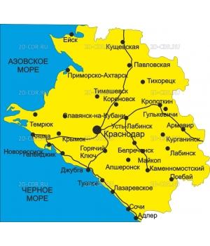 Краснодарский край (карта)