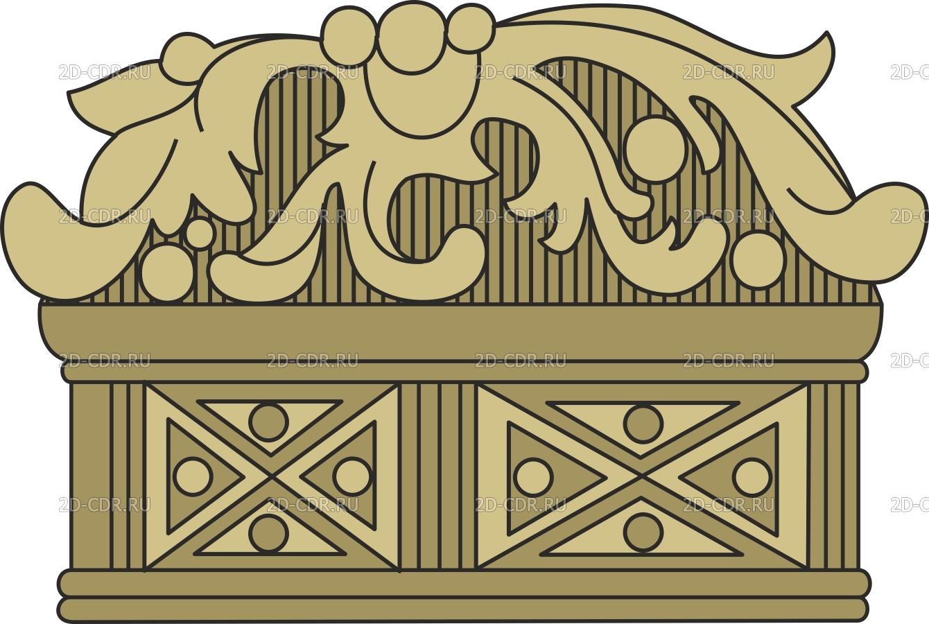 Векторный клипарт «Узор (1538)»
